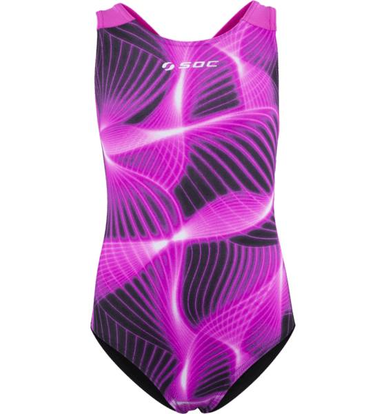 Soc Uimapuvut Soc K Sw Suit BLK/PINK/PRINT (Sizes: 110-116)