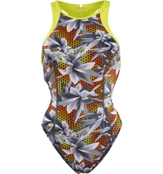 Speedo Uimapuvut Speedo W Hydra F Hi Neck Suit OXID GREY/BLACK (Sizes: 36)