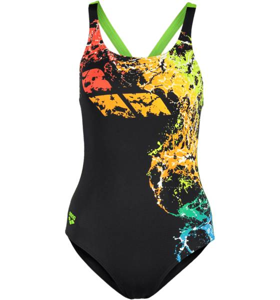 Arena Uimapuvut Arena W Backwash One Piece L BLACK LEAF (Sizes: 42)