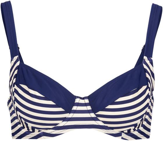 Abecita W Sailor Wire Bra Bikinit WHITE/NAVY (Sizes: 38 D)