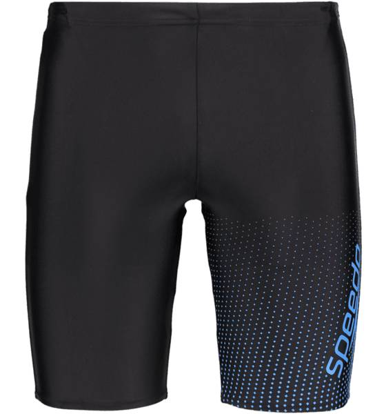 Speedo M Gala Log Jammer Uimahousut BLACK/NEON BLUE (Sizes: M)