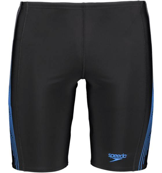 Speedo M Placement Panel Jammer Uimahousut BLACK/USA/CHARCOAL (Sizes: L)