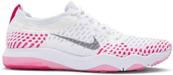 Nike Treenikengät Nike W Air Zoom Fearless Flyknit WHITE/WOLF GREY RA (Sizes: US 9.5)