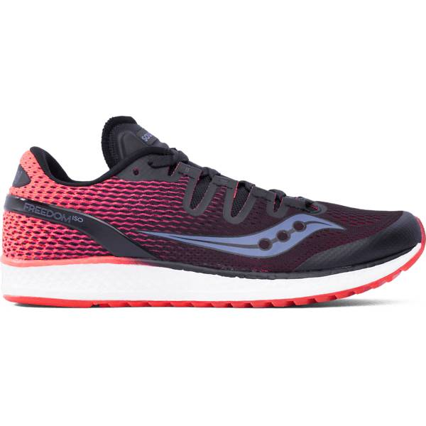 Saucony W Freedom Iso Juoksukengät BLACK/VIZIRED (Sizes: US 9.5)