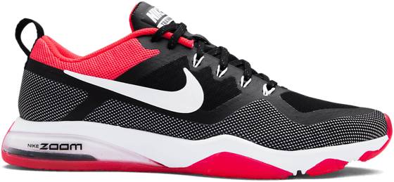Nike Treenikengät Nike W Air Zoom Fitness BLACK/WHITE/SOL RE (Sizes: US 7.5)