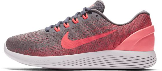 Nike Wmns Nike Lunarglide 9 Juoksukengät GUNSMOKE/SOLAR RED (Sizes: US 6)