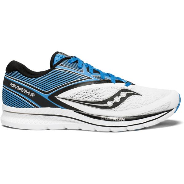 Saucony Kinvara 9 Juoksukengät WHITE/BLUE/BLACK (Sizes: US 10)