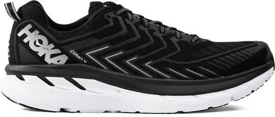 Hoka One One M Clifton 4 Juoksukengät BLACK/WHITE (Sizes: US 8.5)