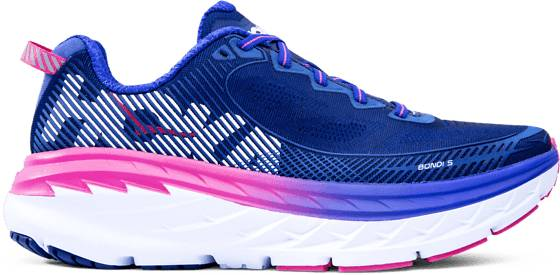 Hoka One One W Bondi 5 Juoksukengät BLUEPRINT/SURF THE (Sizes: US 9.5)