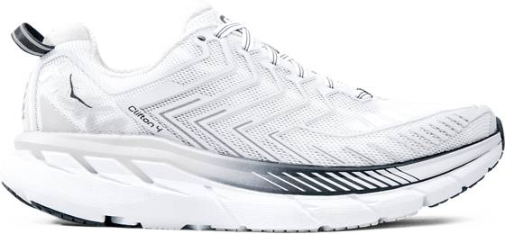 Hoka One One W Clifton 4 Juoksukengät WHITE/BLACKENED PE (Sizes: US 7.5)