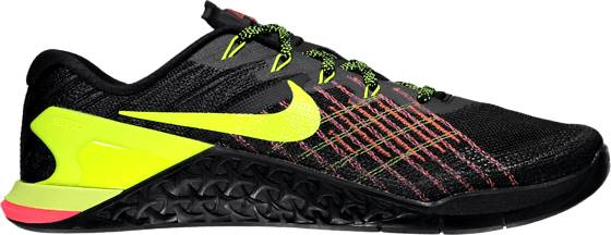 Nike M Metcon 3 Treenikengät BLACK/VOLT (Sizes: US 10.5)