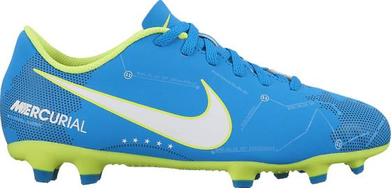 Nike Jalkapallokengät Nike Jr Mercurial Vortex Iii Njr Fg BLUE ORBIT/WHITE (Sizes: US 6)