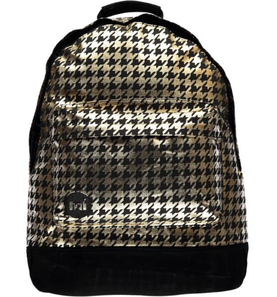 Mi Pac Reput Mi Pac Houndstooth Backpack BLACK/GOLD (Sizes: One size)