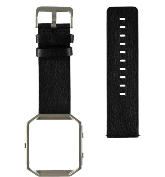 Fitbit Sykemittarit Fitbit Blaze Leather Band BLACK (Sizes: L)