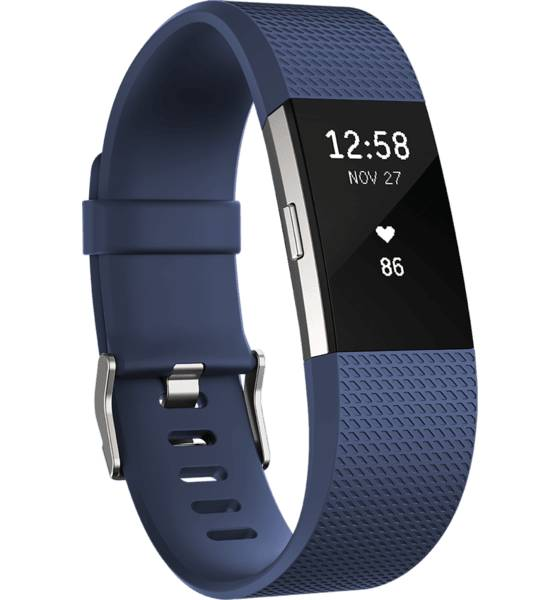 Fitbit Sykemittarit Fitbit Charge 2 BLUE (Sizes: S)