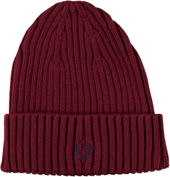 Fred Perry Pipot Fred Perry Ribbed Beanie ROSEWOOD (Sizes: One size)