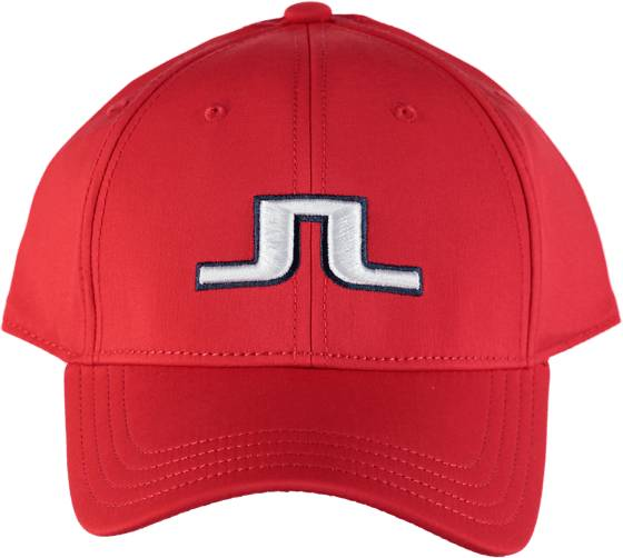 J Lindeberg Golfvaatteet J Lindeberg Angus Tech Stretch Cap RED INTENSE (Sizes: One size)