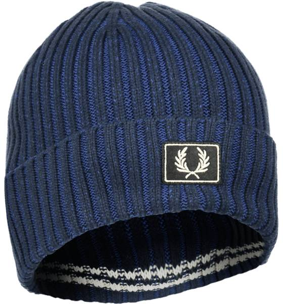 Fred Perry Pipot ja otsapannat Fred Perry U Cotton Beanie NAVY (Sizes: One size)