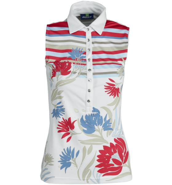 Daily Golfvaatteet Daily W Vanessa S/l Polo WHITE/PRINT (Sizes: L)