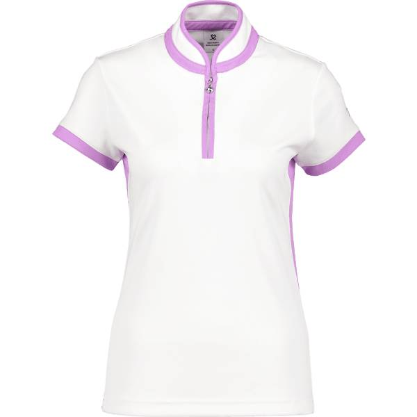 Daily Sports W Marge Ss Polo Shirt Golfvaatteet WHITE/VERONICA (Sizes: M)