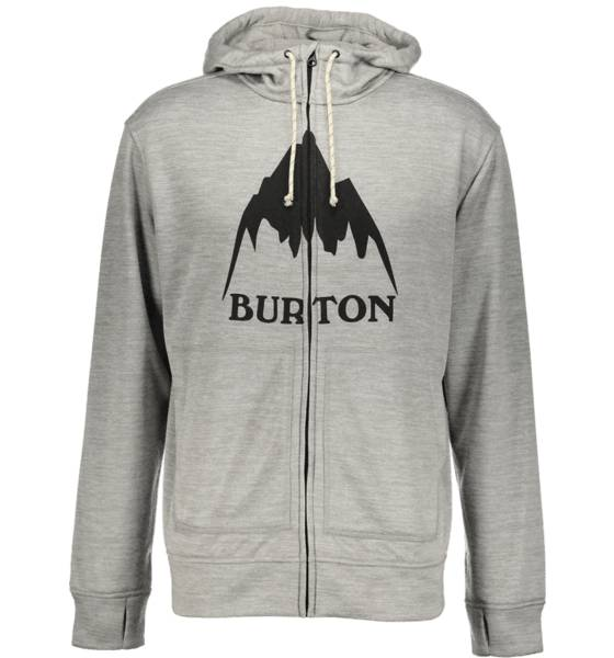 Burton Pitkähihaiset Burton M Oak Fz Hoodie MOMENT HEATHER (Sizes: M)