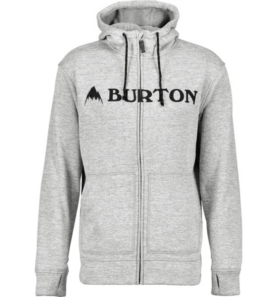Burton Pitkähihaiset Burton M Oak Fz Hoodie MONUMENT HEATHER (Sizes: S)