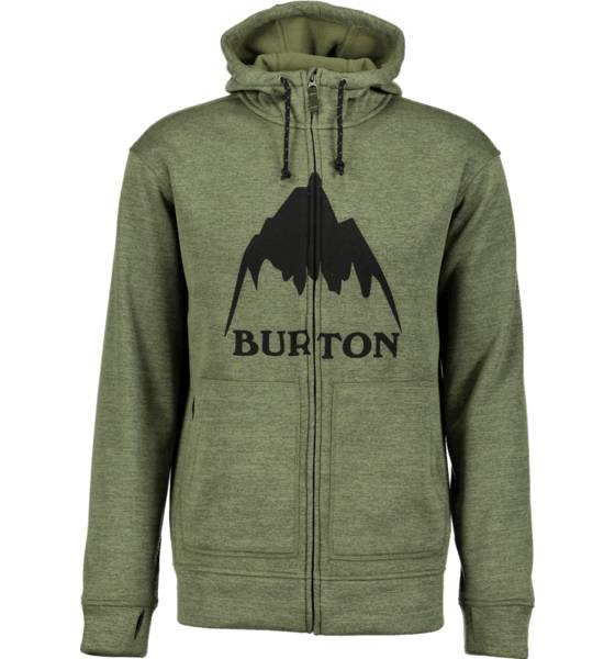 Burton Pitkähihaiset Burton M Oak Fz Hoodie DUSTY OLIVE HEATHE (Sizes: S)