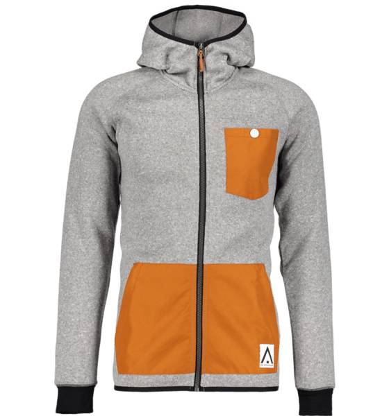 Wear Colour Fleecet Wear Colour M Scale Fleece Hood GREY MELANGE (Sizes: M)