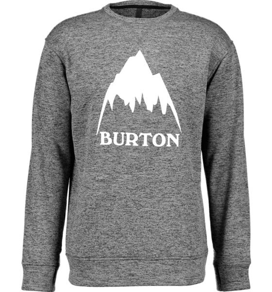 Burton Pitkähihaiset Burton M Oak Crew BLACK/WHITE (Sizes: L)