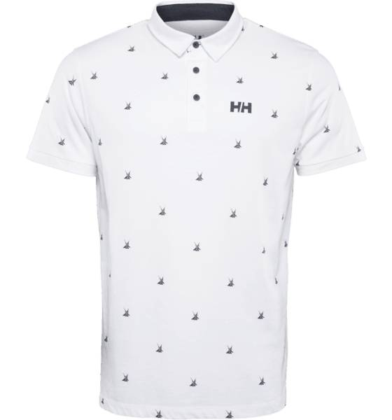 Helly Hansen M Fjord Polo Paidat & pikeepaidat WHITE PRINT (Sizes: M)