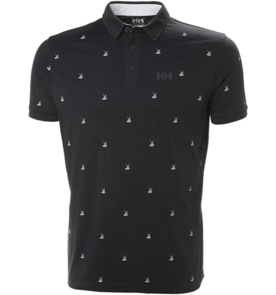 Helly Hansen M Fjord Polo Paidat & pikeepaidat NAVY PRINT (Sizes: S)