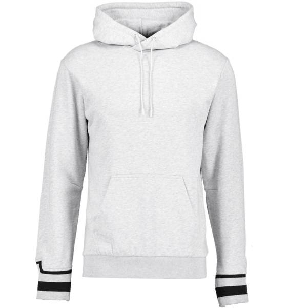 J Lindeberg M Cian Hood French Terry Pitkähihaiset STONE GREY MELANGE (Sizes: XL)