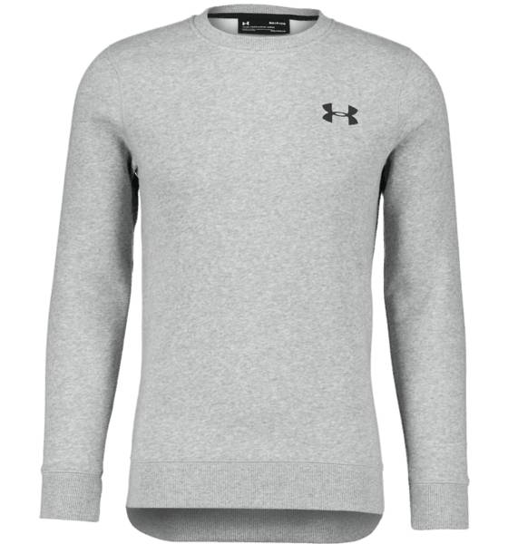 Under Armour M Rival Solid Fitted Crew Pitkähihaiset STEEL LIGHT HEATHE (Sizes: S)