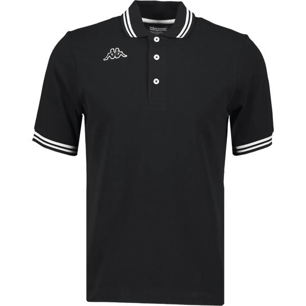 Kappa M Maltax Polo Ss Paidat & pikeepaidat BLACK/WHITE (Sizes: M)