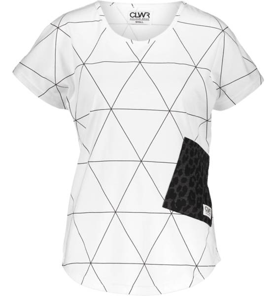 Colour Wear T-paidat Colour Wear W Holk Top WHITE POLYGON (Sizes: M)