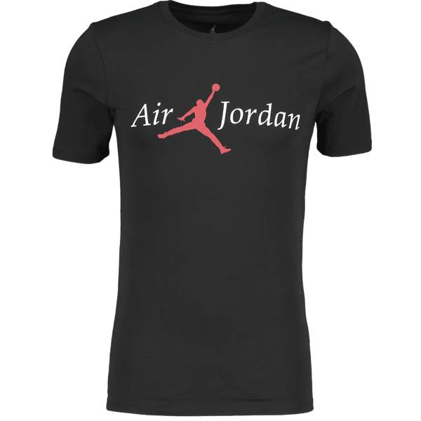 Jordan M Jsw Tee Fa Brand 5 Puuvilla t-paidat BLACK/WHITE/GYM RE (Sizes: S)