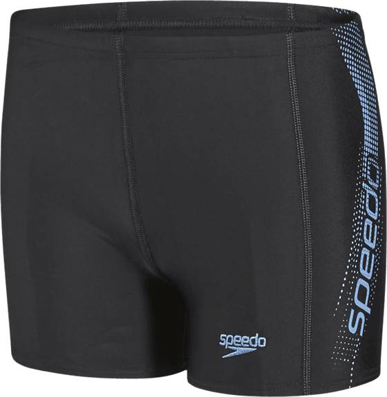 Speedo Uimahousut Speedo B Sports Logo Panel Aquashort BLACK/POWDER BLUE (Sizes: 152)