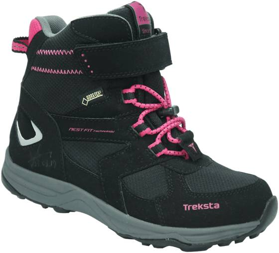 Treksta J Arrow Gtx High Varsikengät BLACK/MAGENTA PINK (Sizes: 33)