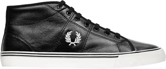Fred Perry M Haydon Mid Leather Tennarit BLACK/OFFWHITE (Sizes: 44)