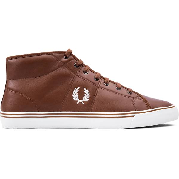 Fred Perry M Haydon Mid Leather Tennarit BROWN/OFFWHITE (Sizes: 43)