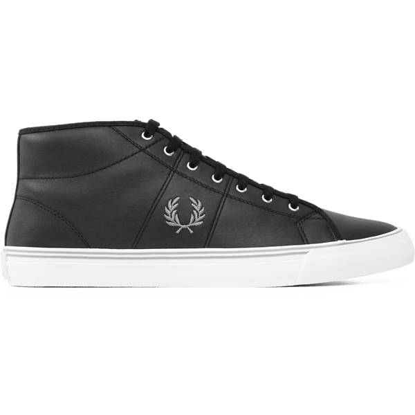 Fred Perry M Haydon Mid Leather Varsikengät BLACK/WHITE (Sizes: 42)
