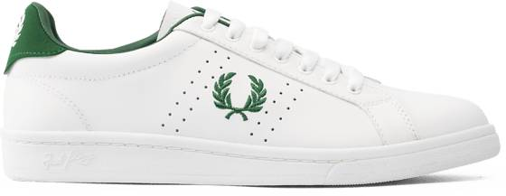 Fred Perry U Parkside Leather Tennarit WHITE/GREEN (Sizes: 45)
