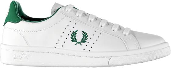 Fred Perry Tennarit Fred Perry U Parkside Leather WHITE/IVY (Sizes: 41)