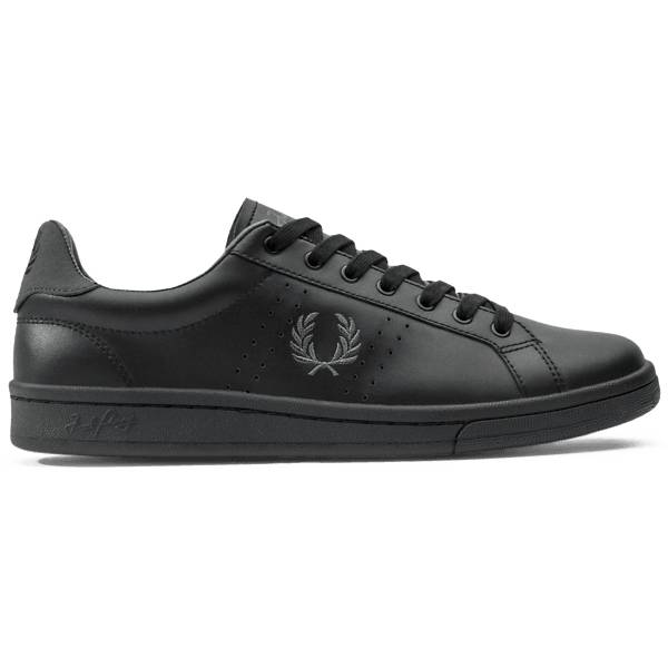 Fred Perry U Parkside Leather Tennarit BLACK/CHARCOAL (Sizes: 39)