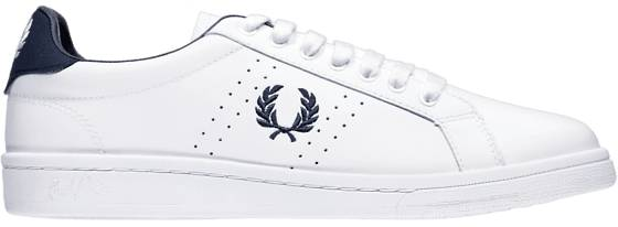 Fred Perry U Parkside Leather Tennarit WHITE/NAVY (Sizes: 41)