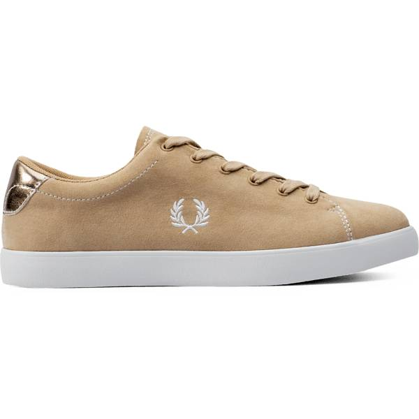 Fred Perry W Lottie Microfibr Tennarit NATURAL TAN/WHITE (Sizes: 40)