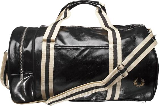 Fred Perry Classic Barrel Bag Laukut BLACK / OFFWHITE (Sizes: One size)