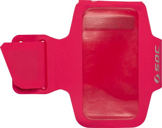 Soc Juoksutarvikkeet Soc U Arm Pouch RED/RED (Sizes: S/M)