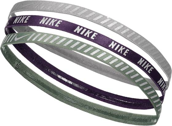 Nike Printed Hazard Stripe Headband 3pk Treenitarvikkeet CLAY GREEN/GRAND P (Sizes: One size)