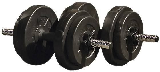 Iron Gym Treenivarusteet Iron Gym Adjustable Dumbbell Set 15kg BLACK (Sizes: One size)